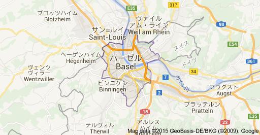 バーゼル地図