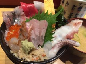 北陸新幹線開通記念第1回金沢マラソン(2)前日、生き生き亭のお寿司を心から堪能
