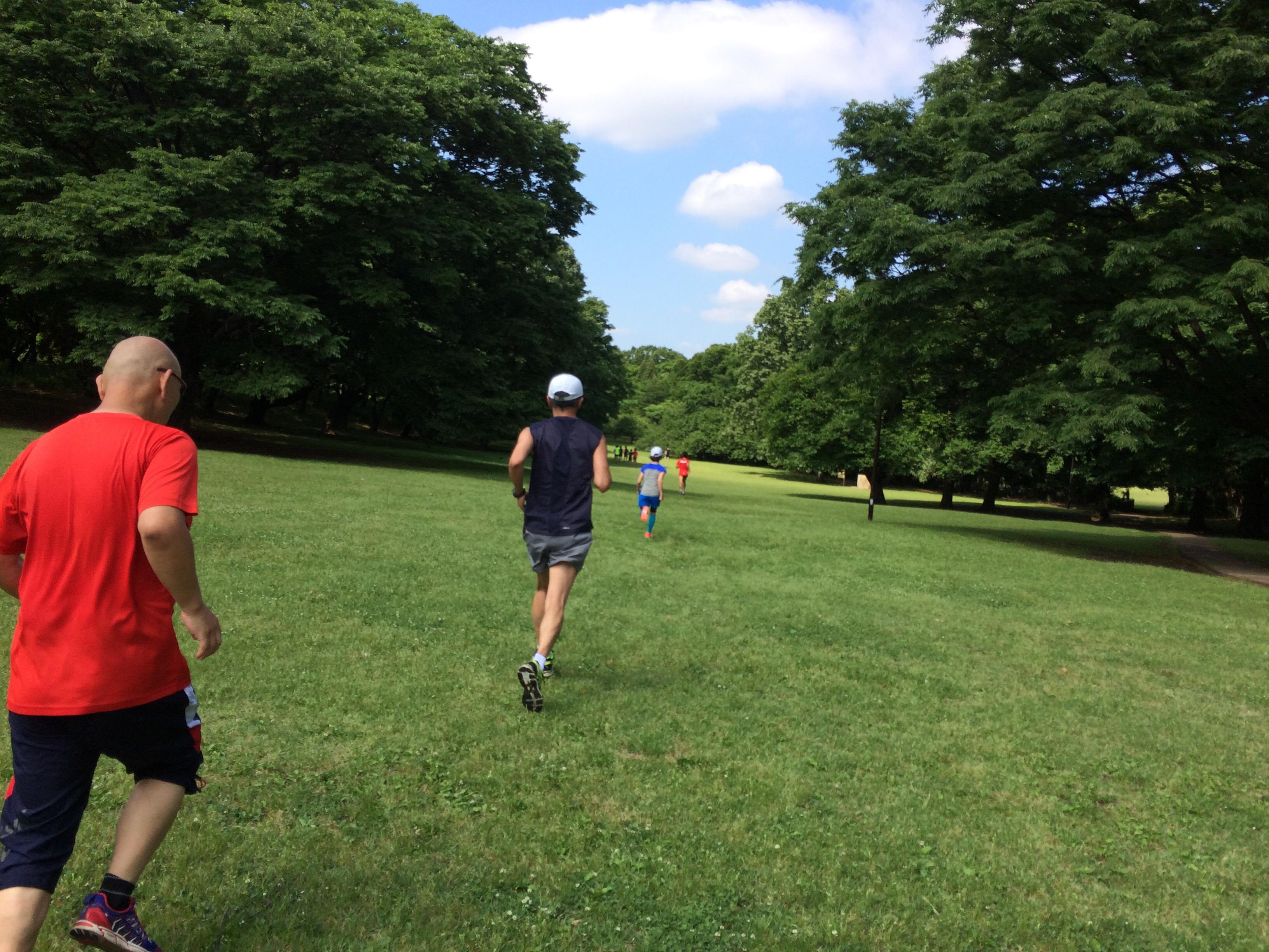 アラ還マラソン練習日記・サブ4.5を狙う③ マラソン完走クラブでの練習:インターバル走と芝生直線ラン、そして坂道ダッシュ